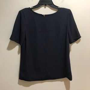 Ted Baker London Size 3 Blue Short Sleeve Blouse